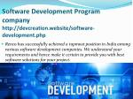 software development program company http devcreation website software development php