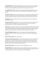 pre qualification a preliminary assessment