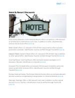 hotel resort discounts