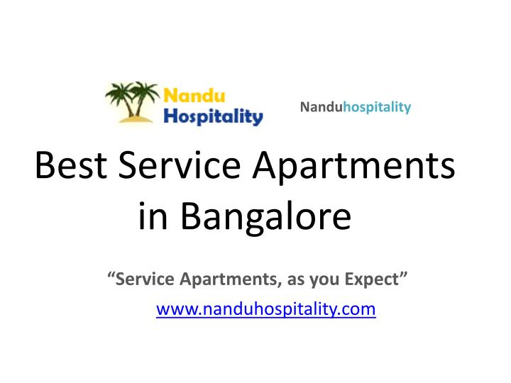 best service apartments in bangalore n.
