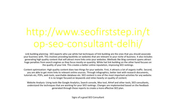 http www seofirststep in top seo consultant delhi n.