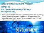 software development program company http devcreation website software development php