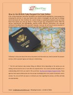 how to get british fake passport for sale online