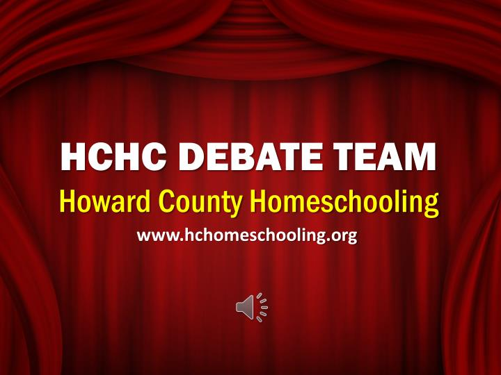 hchc debate team howard county homeschooling n.