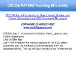 cis 336 papers teaching effectively 11