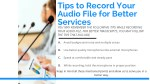 tips to record your audio file for better