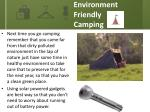 environment friendly camping