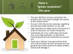 have a green resolution this year