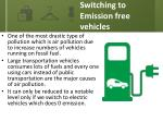 switching to emission free vehicles