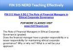 fin 515 nerd teaching effectively 37
