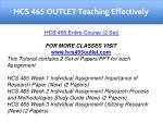 hcs 465 outlet teaching effectively