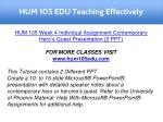 hum 105 edu teaching effectively 8