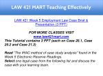 law 421 mart teaching effectively 17