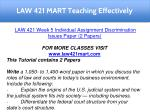 law 421 mart teaching effectively 18