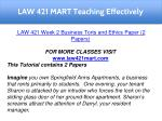 law 421 mart teaching effectively 7