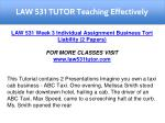 law 531 tutor teaching effectively 19