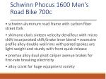 schwinn phocus 1600 men s road bike 700c 1