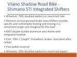 vilano shadow road bike shimano sti integrated shifters 1