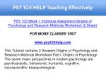 psy 103 help teaching effectively 1