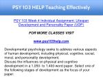 psy 103 help teaching effectively 9