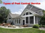 types of pest control service