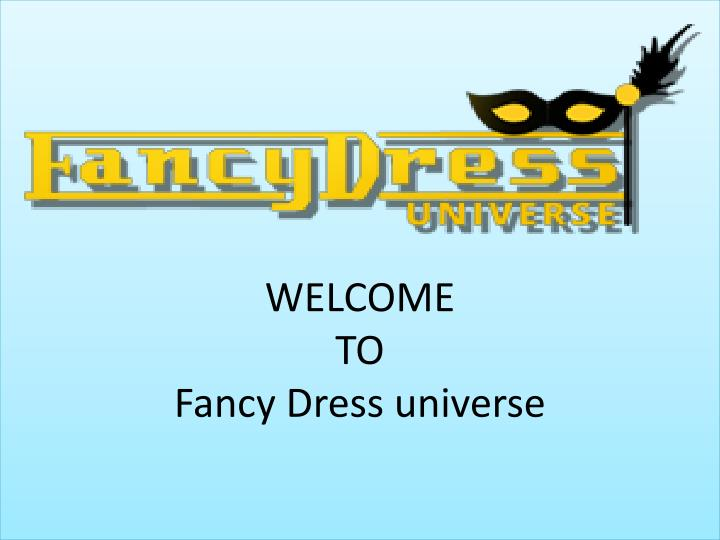 welcome to fancy dress universe n.