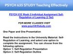 psych 635 study teaching effectively 11