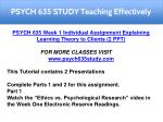 psych 635 study teaching effectively 2