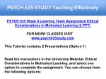 psych 635 study teaching effectively 8