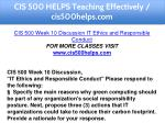 cis 500 helps teaching effectively cis500helps com 16