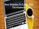 best websites to learn web development