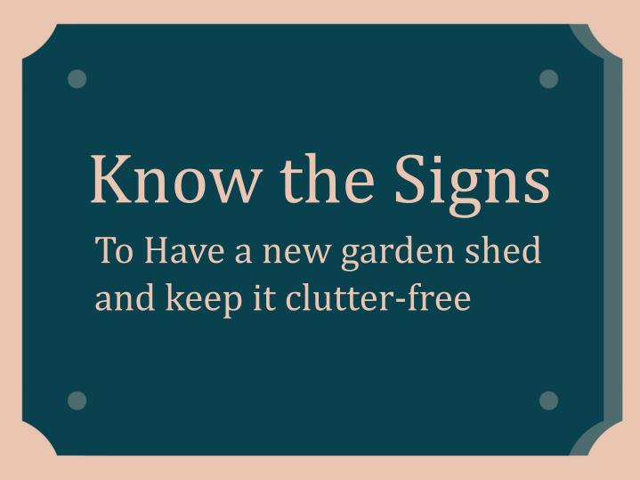 know the signs n.