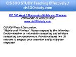 cis 500 study teaching effectively cis500study com 11
