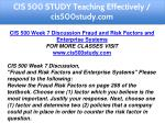 cis 500 study teaching effectively cis500study com 12