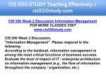cis 500 study teaching effectively cis500study com 5