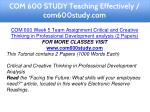 com 600 study teaching effectively com600study com 11