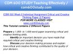 com 600 study teaching effectively com600study com 13