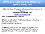 com 600 study teaching effectively com600study com 3