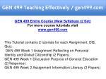 gen 499 teaching effectively gen499 com 1