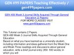 gen 499 papers teaching effectively gen499papers 10