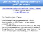 gen 499 papers teaching effectively gen499papers 4