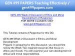 gen 499 papers teaching effectively gen499papers 6