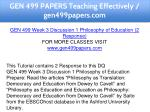 gen 499 papers teaching effectively gen499papers 8