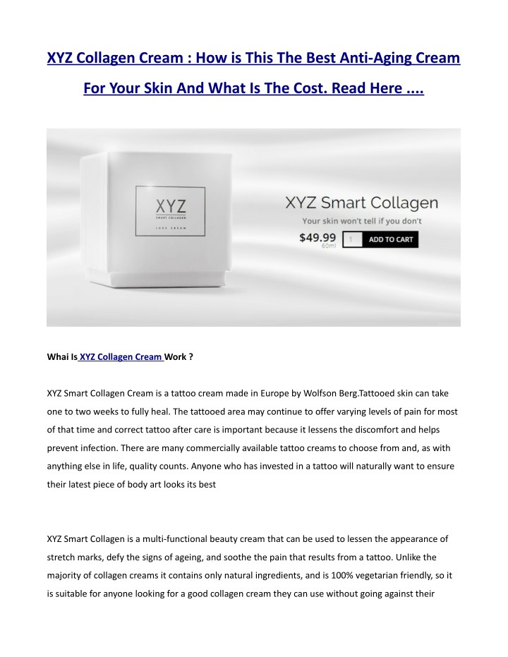 xyz collagen cream how is this the best anti n.