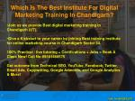 which is the best institute for digital marketing