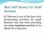 best voip service for small business