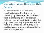 interactive voice response ivr service