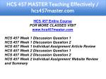 hcs 457 master teaching effectively hcs457master 1