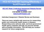 hcs 457 master teaching effectively hcs457master 8