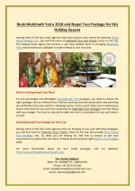 book muktinath yatra 2018 and nepal tour package